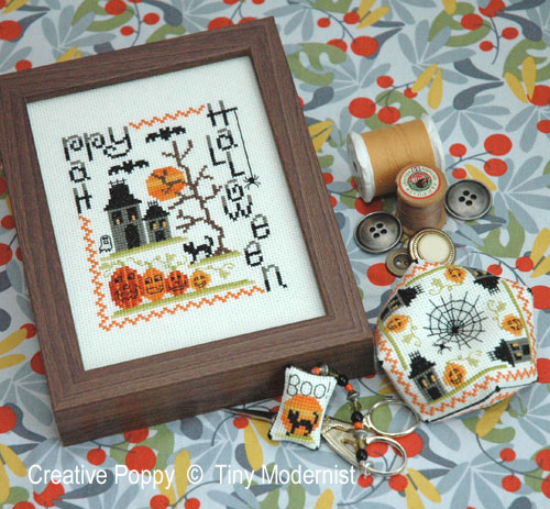 Spooky Halloween Trio cross stitch pattern by Tiny Modernist