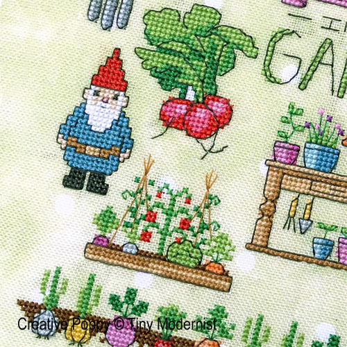 Spring Garden cross stitch pattern by Tiny Modernist, zoom 1