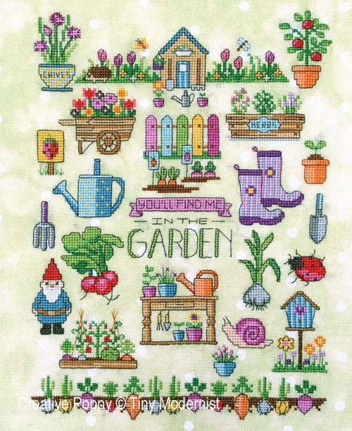 Spring Garden cross stitch pattern by Tiny Modernist