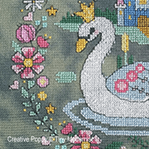 The Swan Princess cross stitch pattern by Tiny Modernist, zoom 1