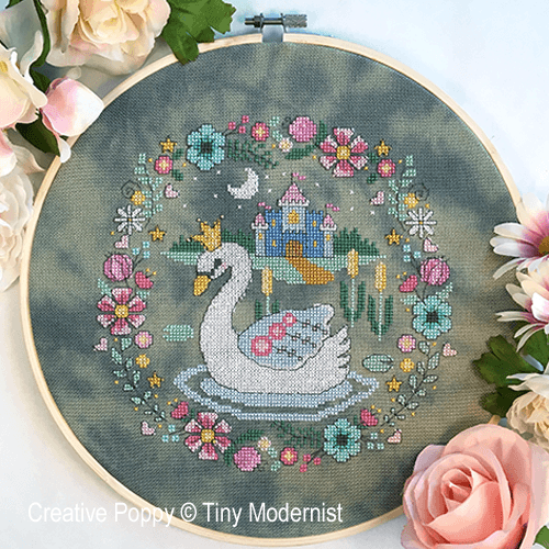 The Swan Princess cross stitch pattern by Tiny Modernist