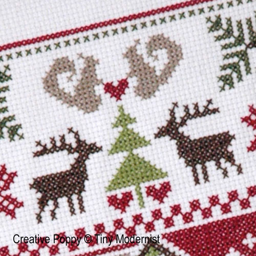 Woodland Sampler cross stitch pattern by Tiny Modernist, zoom 1