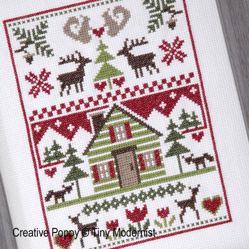 Woodland Sampler cross stitch pattern by Tiny Modernist