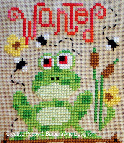 Hedgehogs, Frogs and Snails patterns to cross stitch