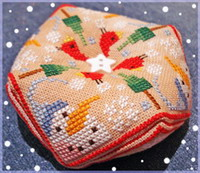 Winter Biscornu cross stitch pattern by Barbara Ana Designs