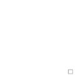 Round pinkeep with white lace cross stitch